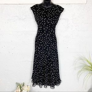 Chadwicks Silk Polka Dots Dress